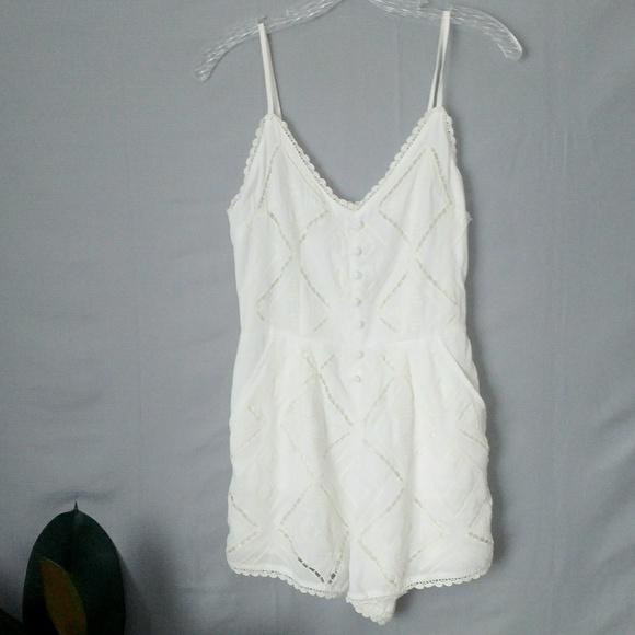 e5bbed8e939a Kendall   Kylie White Lace Strapy Mini Romper Sm